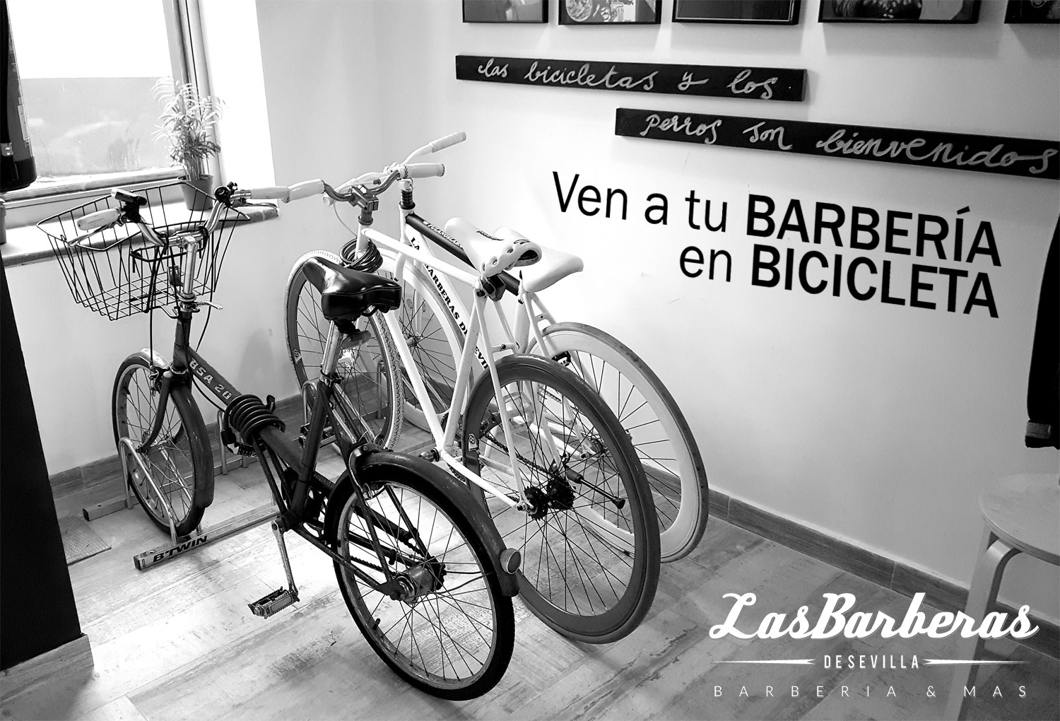 Parking Bicicletas en Barbería en Sevilla