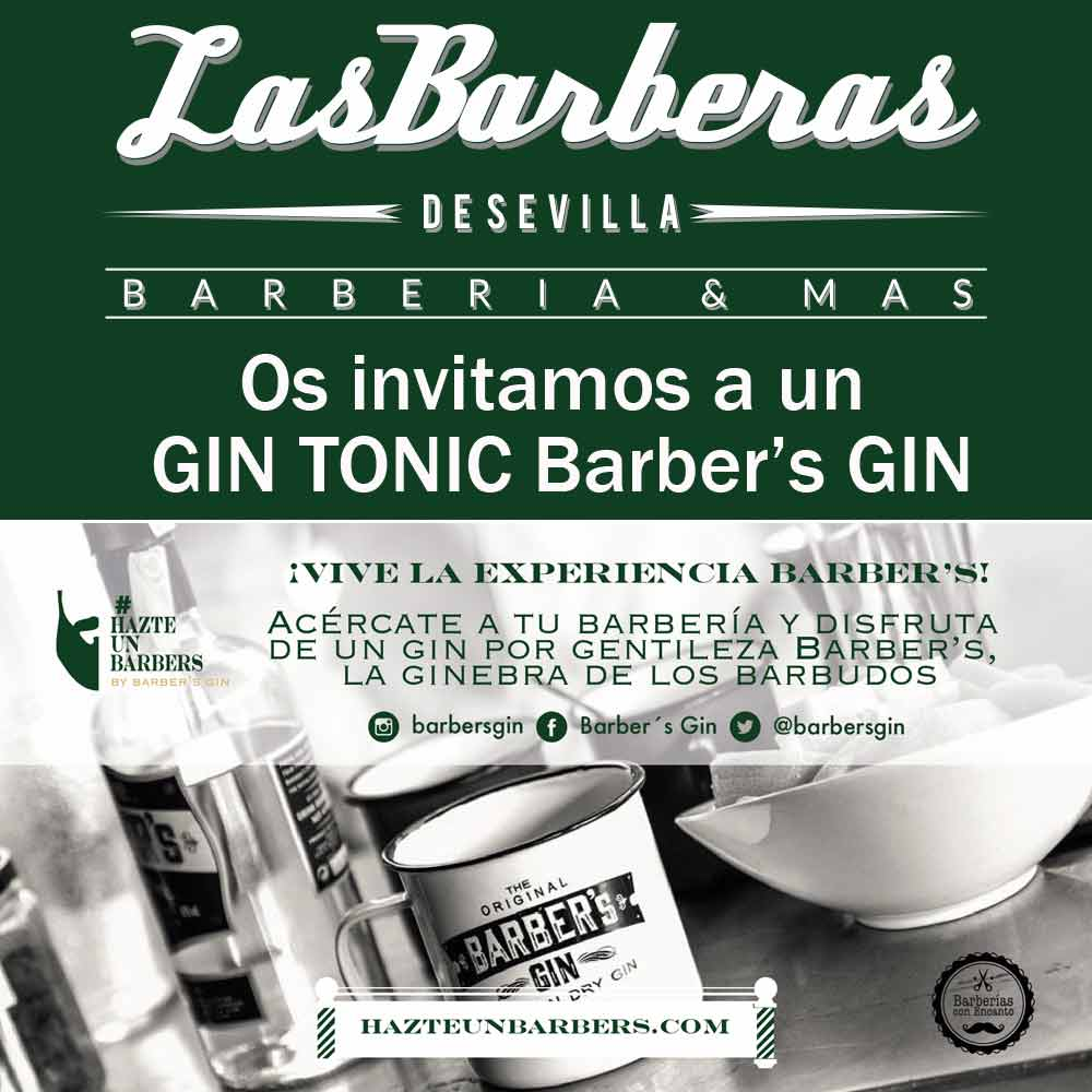 Invitamos a Gin Tonic a todos nuestros clientes por gentileza de Barber's Gin