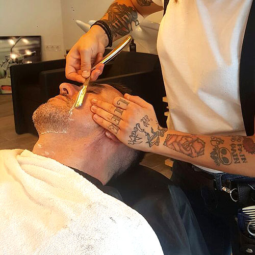 Afeitado a navaja